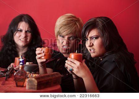 Witches With Candles