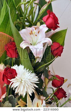 Celebratory bunch of flowers