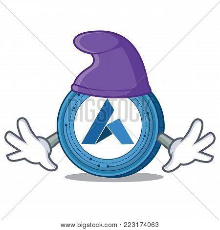 Elf Ardor coin character cartoon vector illustration