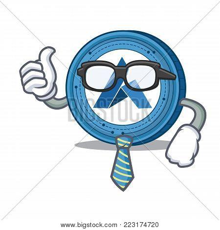 Businessman Ardor coin character cartoon vector illustration