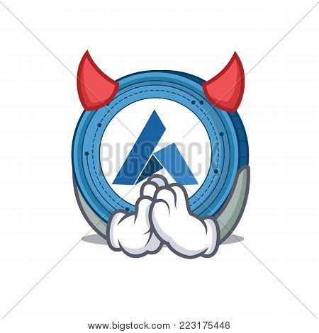Devil Ardor coin mascot cartoon vector illustration