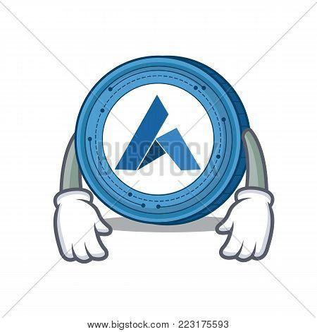 Tired Ardor coin mascot cartoon vector illustration