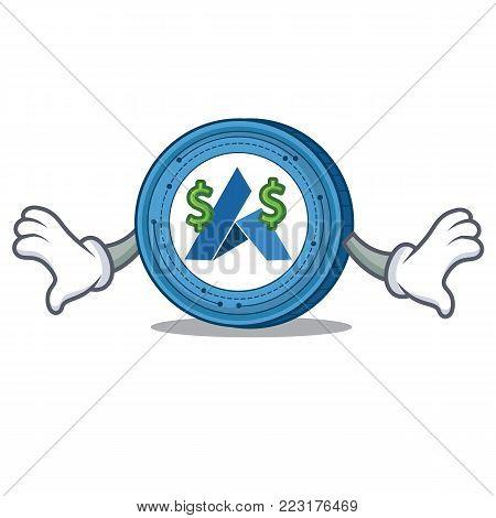 Money eye Ardor coin mascot cartoon vector illustration