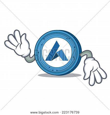 Crazy Ardor coin mascot cartoon vector illustration