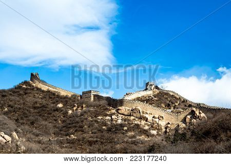Badaling Great Wall in winter time, China