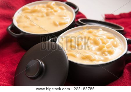 macaroni noodles and cheese made from scratch