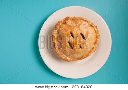 meat pie made with roast beef in a savoury gravy
