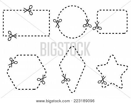 isolated coupon border set,vector from white background