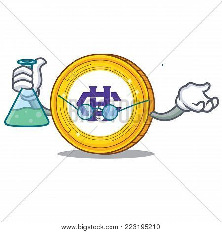 Professor Hshare coin character cartoon vector illustration