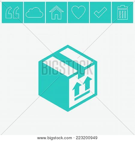 Free shipping vector icon. Free delivery sign. Package box.