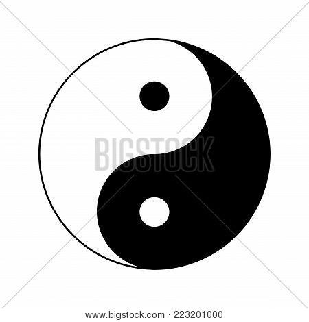 yin yang icon, ying yang symbol icon