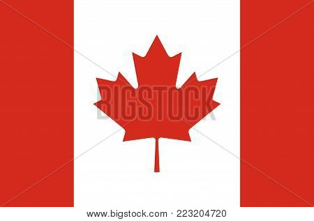 canada accurate colors national flag symbol icon
