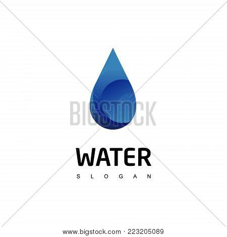 Drop Water Logo Design For Mineral Water Product or company