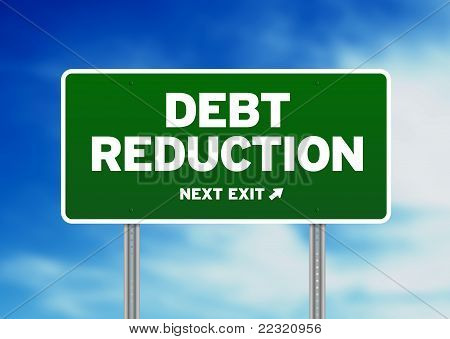 Debt Reduction Road Sign