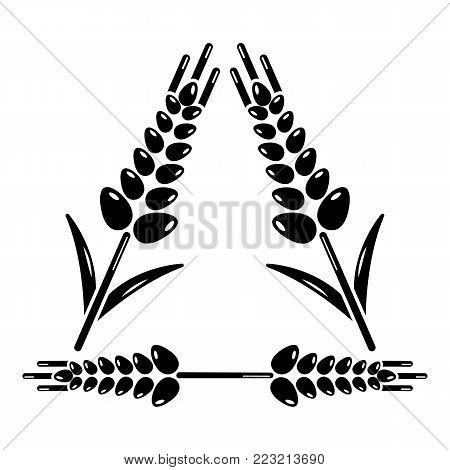 Winter-hardened wheat icon. Simple illustration of winter-hardened wheat vector icon for web.