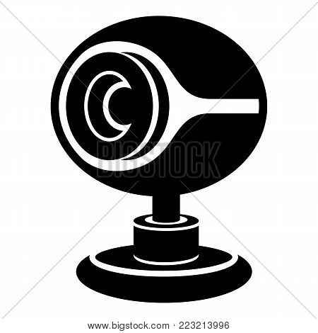 Web camera icon. Simple illustration of web camera vector icon for web
