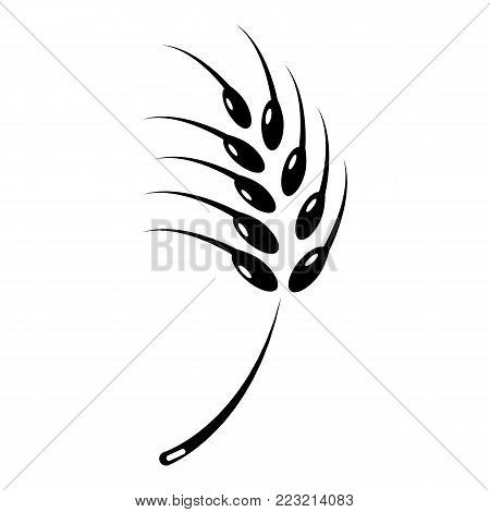 Grainy wheat icon. Simple illustration of grainy wheat vector icon for web.