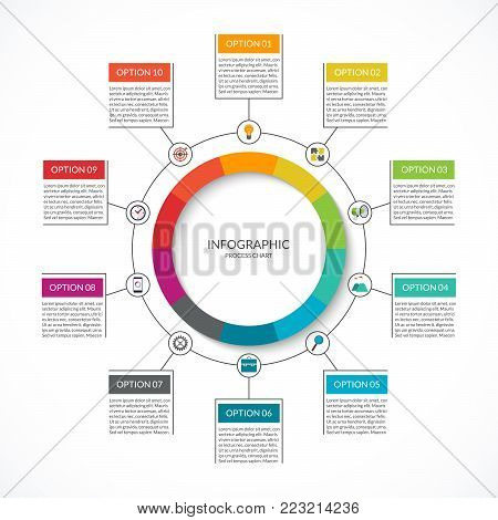 Infographic cycle vector photo free trial bigstock infographic cycle diagram process chart with 10 options vector circle template for business infographics ccuart Choice Image