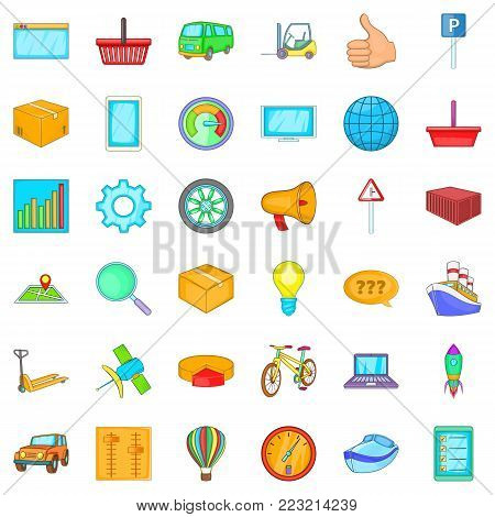 State procurement icons set. Cartoon set of 36 state procurement vector icons for web isolated on white background