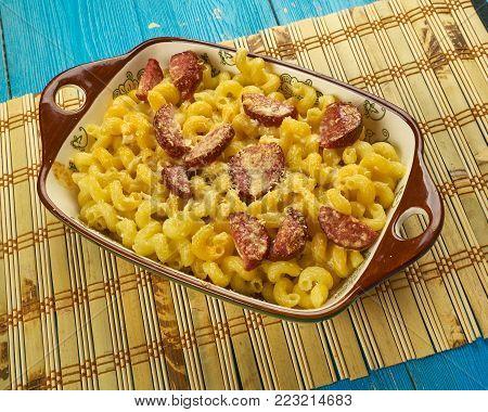 Spanish Pasta With Chorizo