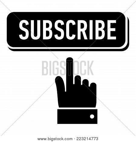 Subscribe icon. Simple illustration of subscribe vector icon for web