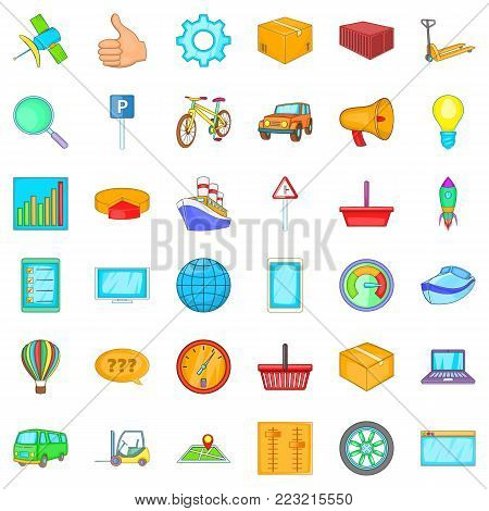 Acquisition icons set. Cartoon set of 36 acquisition vector icons for web isolated on white background