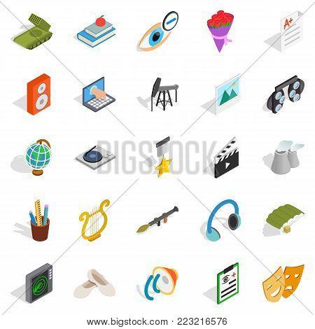 Applying icons set. Isometric set of 25 applying vector icons for web isolated on white background