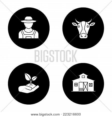 farmer silhouette images illustrations vectors farmer