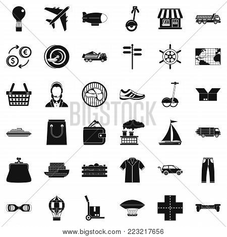 Operator icons set. Simple style of 36 operator vector icons for web isolated on white background