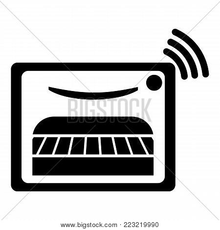 Oven icon. Simple illustration of oven vector icon for web