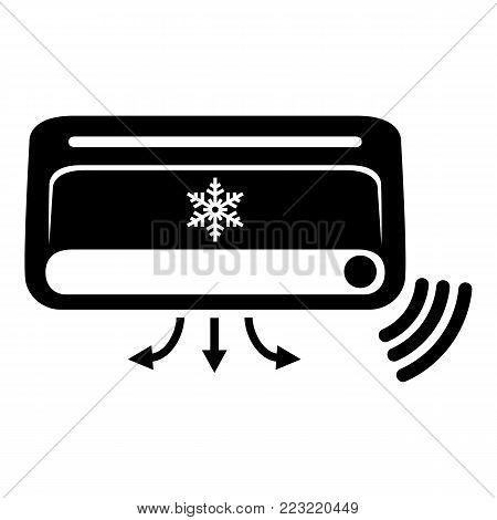 Air conditioning icon. Simple illustration of air conditioning vector icon for web