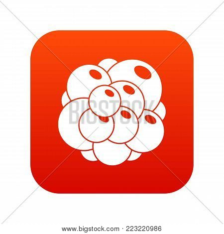 Ovary icon digital red for any design isolated on white vector illustration