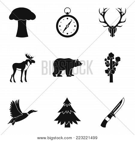 Forest brother icons set. Simple set of 9 forest brother vector icons for web isolated on white background