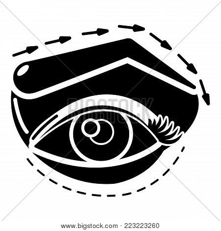 Eyelid elevation icon. Simple illustration of eyelid elevation vector icon for web.