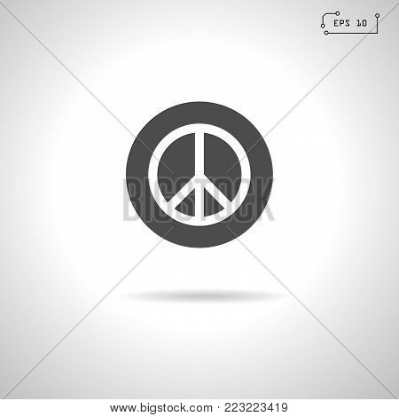 Peace symbol icon, sign. Vector Illustration. EPS 10