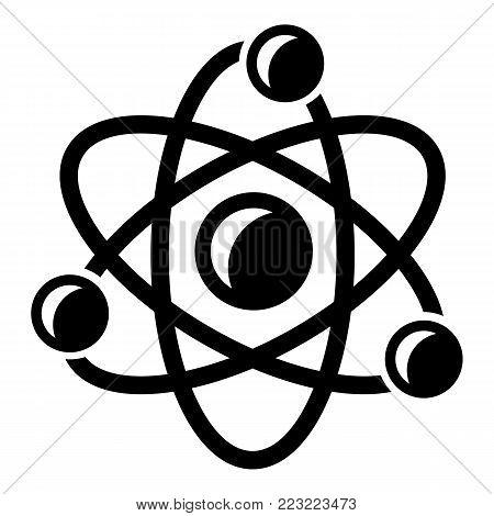 Molecule genetics icon. Simple illustration of molecule genetics vector icon for web