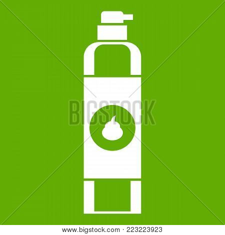 Air freshener icon white isolated on green background. Vector illustration
