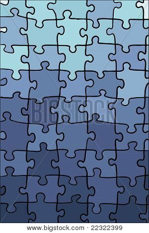 bright colorful blue gradient puzzle texture vector poster