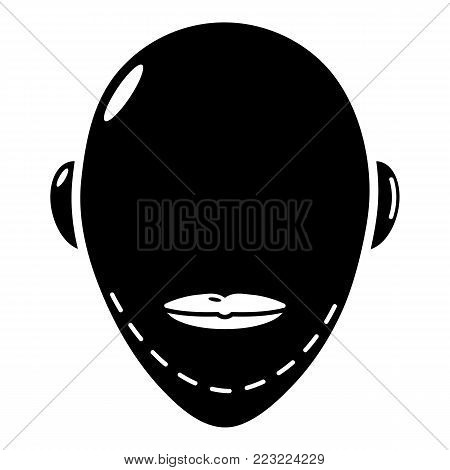 poster of Facelift icon. Simple illustration of facelift vector icon for web.