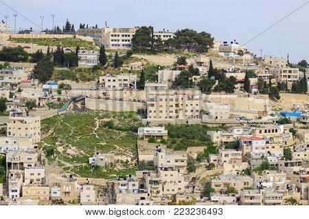 Jerusalem/ Israel - 12-04-2014: Buildings in East Jerusalem, Israel