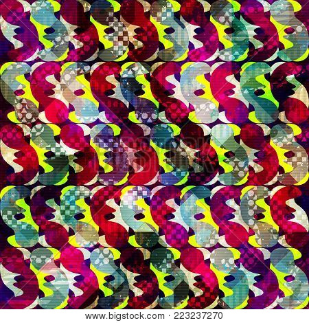 abstract seamless color pattern in graffiti style. Quality vector illustration for your design
