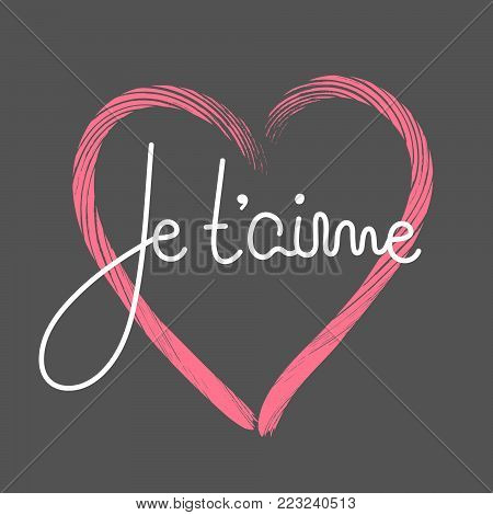 Je T\'aime. French Vector & Photo (Free Trial) | Bigstock