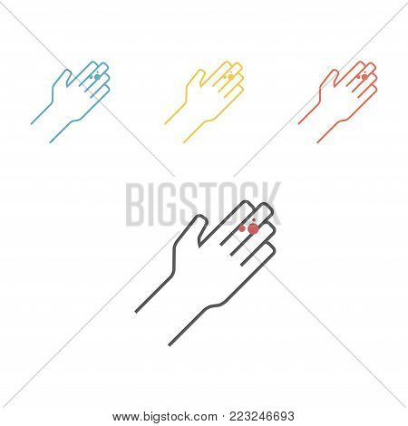 Herpes on hands. Vector icon for web graphic.