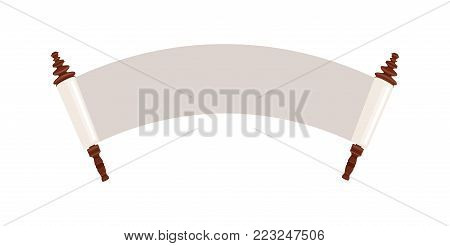 ancient Jewish holy scroll of torah. vector illustration