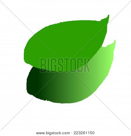 twin leaves, leaves of pile, leaves, two leaves, fall leaves.