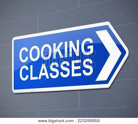 Cooking Class Concept.