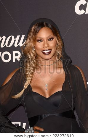 LOS ANGELES - JAN 18:  Laverne Cox at the Lip Sync Battle LIVE: A Michael Jackson Celebration at the Dolby Theater on January 18, 2018 in Los Angeles, CA