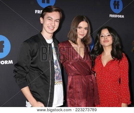 LOS ANGELES - JAN 18:  Hayden Byerly, Maia Mitchell, Cierra Ramirez at the Freeform Summit 2018 at NeueHouse on January 18, 2018 in Los Angeles, CA