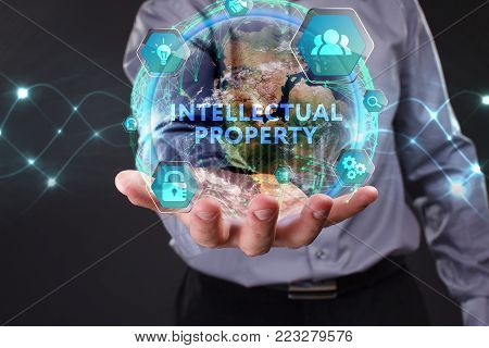 The Concept Of Business, Technology, The Internet And The Network. A Young Businessman Overcomes Dif