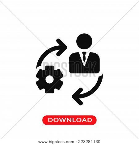 Management icon vector in modern flat style for web, graphic and mobile design. Management icon vector isolated on white background. Management icon vector illustration, editable stroke and EPS10. Management icon vector simple symbol for app, logo, UI.